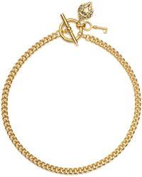 Lauren by Ralph Lauren - Goldtone Curb Chain Toggle Necklace - Lyst