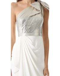 Notte by Marchesa One Shoulder Gown - Lyst