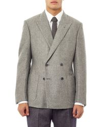 Rake - Double Breasted Patch pocket Blazer - Lyst