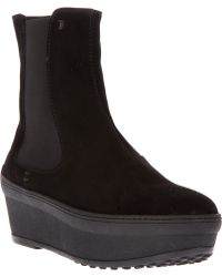 Tod's Wedge Chelsea Boots - Lyst