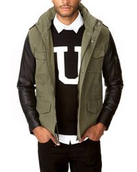 Forever 21 - Faux Leather Sleeve Parka - Lyst