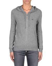 Armani Jeans Full Zip Hooded Cardigan In Wool Blend - Lyst