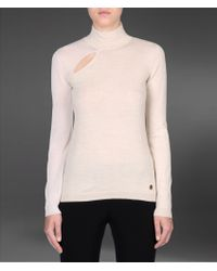 Emporio Armani Funnel Neck with Contrasting Sleeves - Lyst