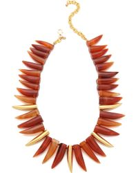 Kenneth Jay Lane - Agate Horn Necklace - Lyst