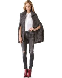 L'Agence - Zip Front Cape - Lyst