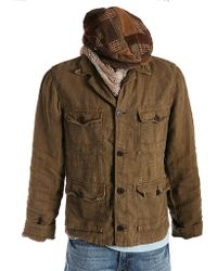 Lucky Brand - Linen Military Jacket - Lyst