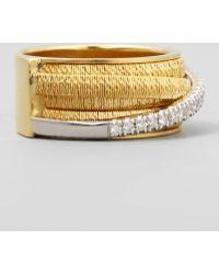 Marco Bicego Diamond Cairo 18k Five-Strand Ring with Diamond Accent TULiU