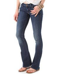 Mother The Runaway Skinny Flare Jeans - Flowers From The Storm - Lyst