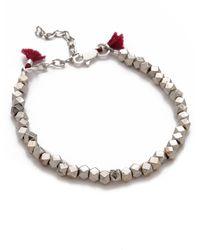 Shashi Nugget Clasp Bracelet - White Gold - Lyst