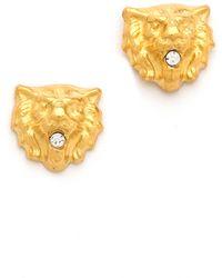 Tom Binns - Crystal Lion Earrings - Lyst