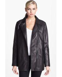 Trouvé Trouvé Textured Shoulder Leather Jacket - Lyst