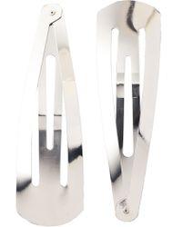 Adia Kibur - Jumbo Hair Clips Silver - Lyst