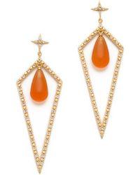 Elizabeth and James - Northern Star Shield Earrings - Lyst