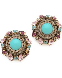 Erickson Beamon   Girls On Film Button Earrings   Lyst