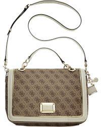 Guess Handbag Reama Top Handle Flap Shoulder Bag 31