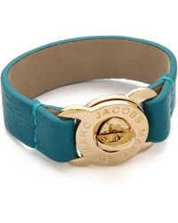 Marc By Marc Jacobs - Large Turnlock Leather Bracelet - Lyst