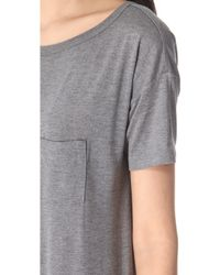 T By Alexander Wang Classic Boat Neck Dress With Pocket - Heather Grey - Lyst