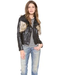 Twelfth Street Cynthia Vincent - Moto Jacket with Faux Fur Vest - Lyst