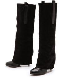 Vera Wang Shai Suede Knee High Boots - Lyst