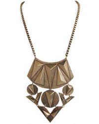 Ziba - Signature 3d Pyramid Necklace - Lyst