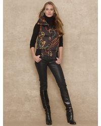 Ralph Lauren Blue Label - Full Zip Bridle Print Vest - Lyst