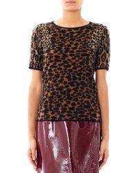 Burberry Prorsum - Animal Jacquard Cashmere Sweater - Lyst
