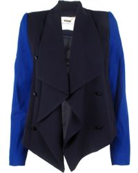 Camilla & Marc Commissar Drape Jacket blue - Lyst