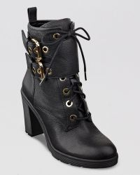 Guess Lace Up Platforom Booties Finlay High Heel - Lyst