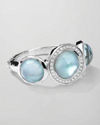 Ippolita | Stella Ring In Blue Topaz Over Mother-of-pearl With Diamonds | Lyst