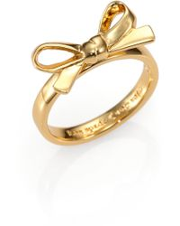 Kate Spade Bow Ring - Lyst