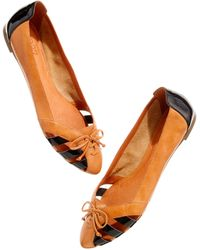 Madewell The Patent Laceup Flat brown - Lyst