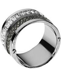 Michael Kors - Multi-Stone Pave Barrel Ring - Lyst