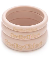 See By Chloé - Logo Bangle Set - Lyst