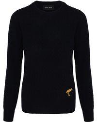 Sophie Hulme - Navy Textured Knit Stork Jumper - Lyst