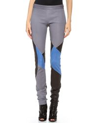 Tess Giberson | Colorblock Leather Leggings | Lyst