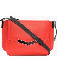 Time's Arrow - Red Leather Mini Trilogy Shoulder Bag - Lyst