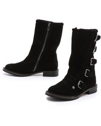 Twelfth Street Cynthia Vincent - Walker Motorcycle Boots - Lyst