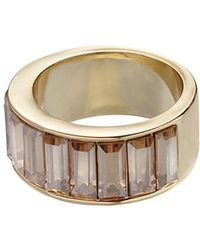 Whistles - Chunky Baguette Ring - Lyst