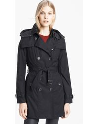 Burberry Brit 'Reymoore' Trench Coat With Detachable Hood & Liner - Lyst