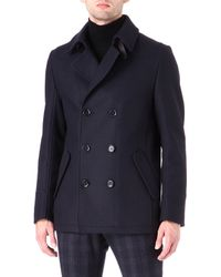 Hugo Doublebreasted Peacoat - Lyst
