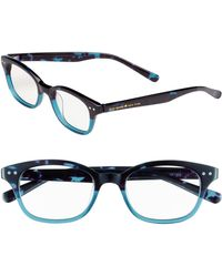 Kate Spade 'Rebecca' 49Mm Reading Glasses - Sky Blue Tortoise - Lyst
