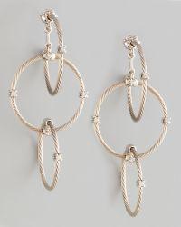 Paul Morelli - 18k White Gold Diamond Link Earrings - Lyst
