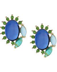 Banana Republic Turquoise Stud Earring Multi Color blue - Lyst