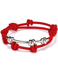 Ferragamo Bracelet with Silver Knots - Lyst