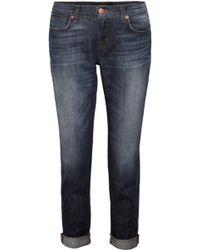 J Brand - Aidan Midrise Boyfriend-Fit Jeans - Lyst
