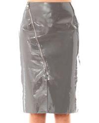 Richard Nicoll - Patent Leather Panel Skirt - Lyst