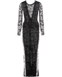 Alessandra Rich Ankle-Length Lace Dress - Lyst