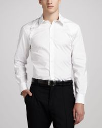 Alexander McQueen Stretchpoplin Harness Shirt White - Lyst