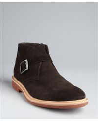 Kenneth Cole Espresso Suede Buckle Detail 'Best Of Chuck' Chukka Boots - Lyst