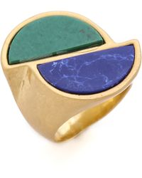 Marc By Marc Jacobs - Peacock Half Circles Ring - Lyst